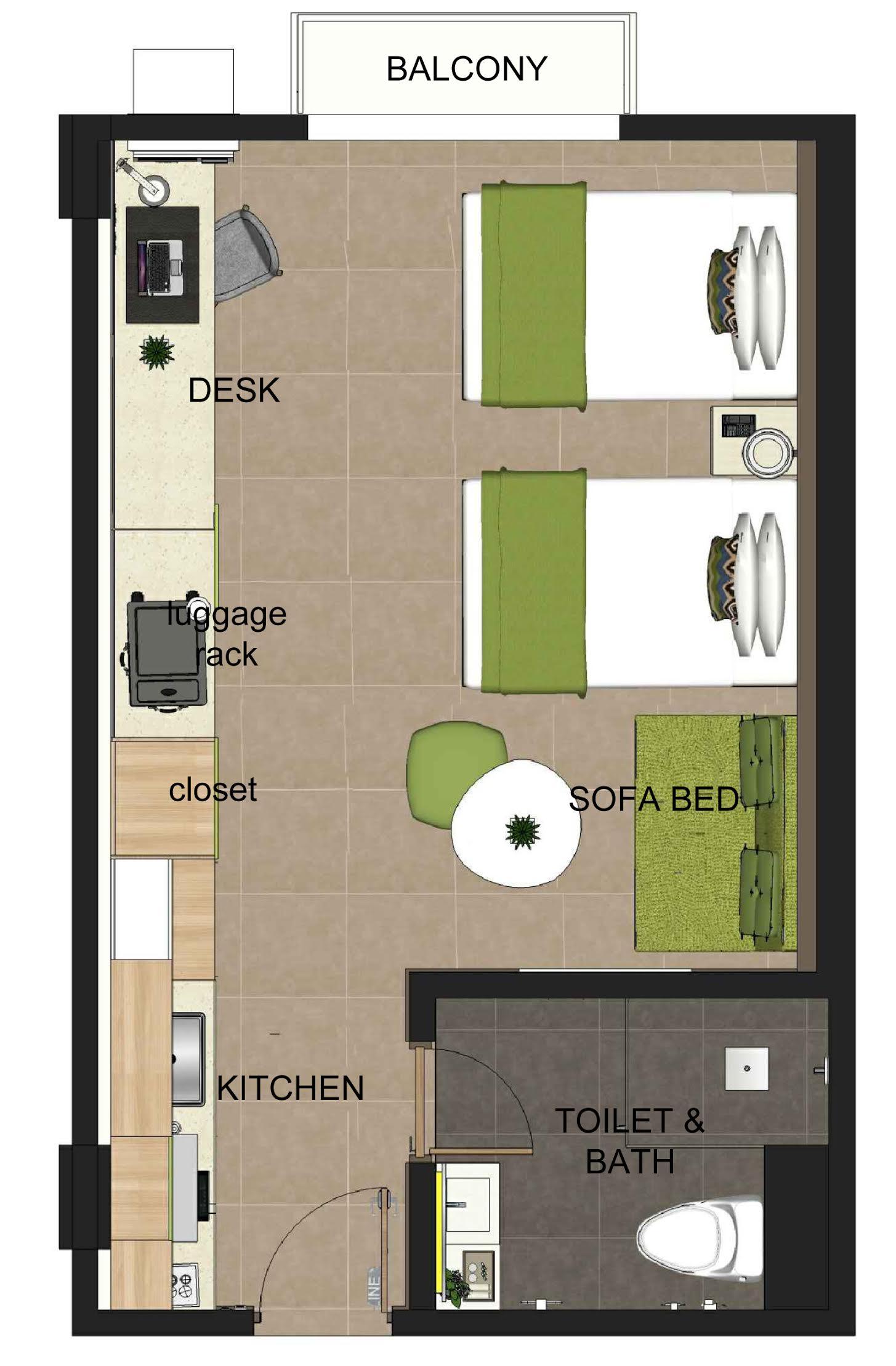 Hotel Room Blueprint: Azalea Boracay